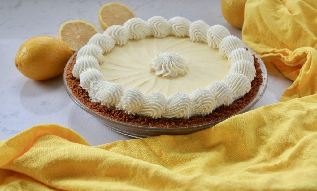 Lemon Cream Pie with fresh lemons