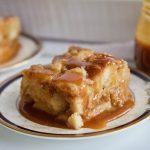 Roasted Peach Bread Pudding