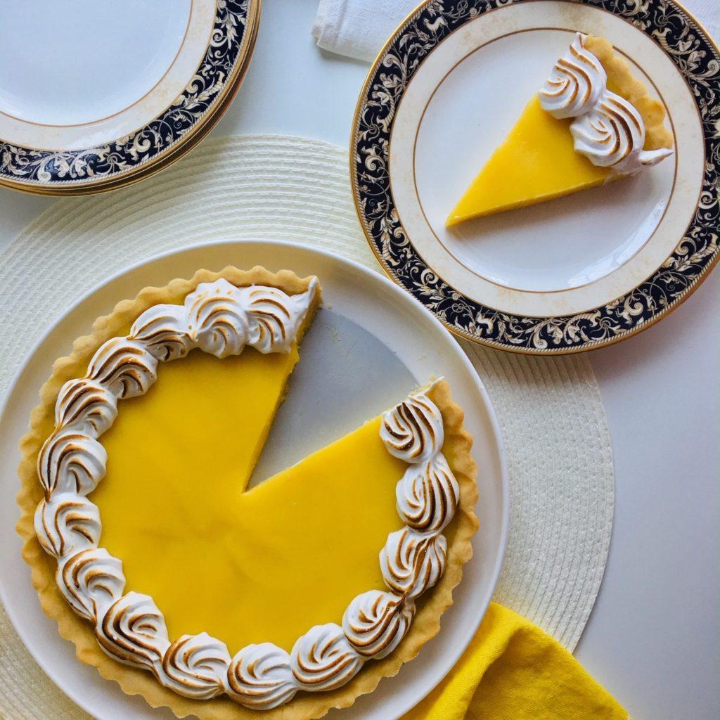 Meyer Lemon Tart with meringue topping