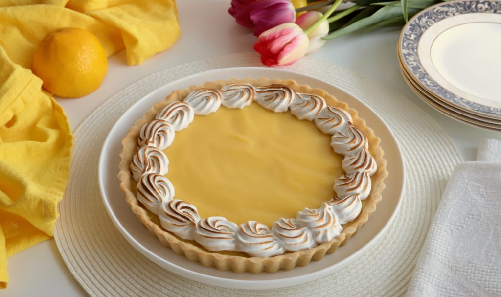 Lemon Tart with meringue topping and