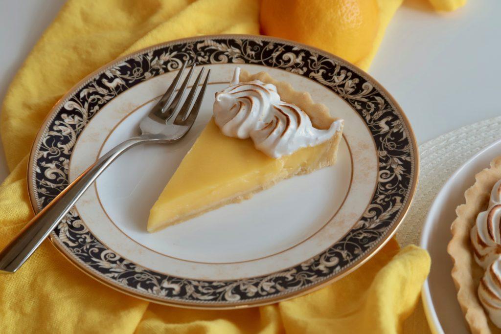 Lemon Tart on a plate