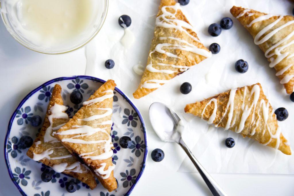 Blueberry Hand Pies with Lemon Cream Glaze