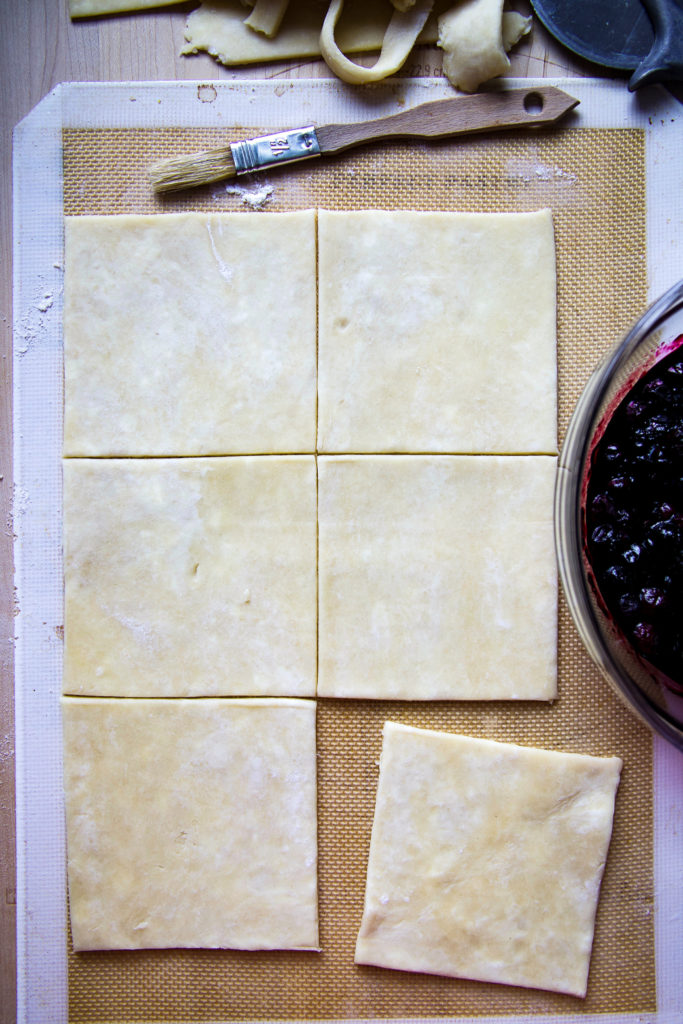 Hand Pie Dough for the Blueberry Hand Pies
