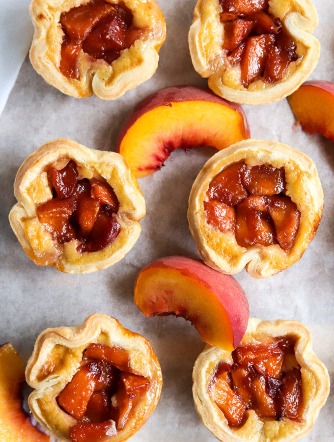 Peach Custard Mini Pie