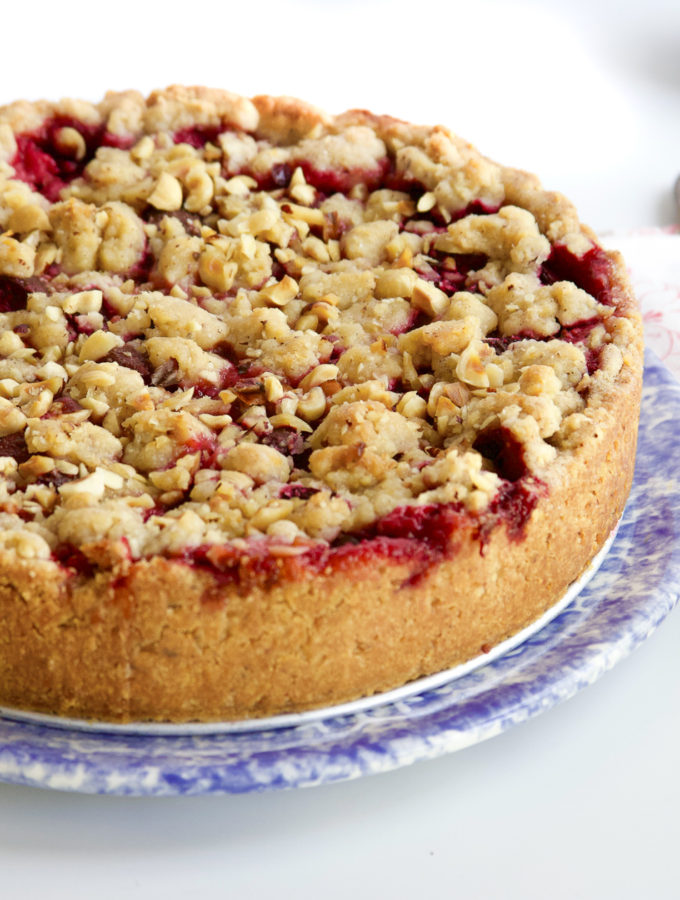 Plum Tart with Hazelnut Crumb Tart