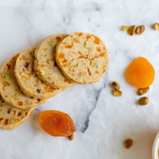 Apricot and Pistachio Shortbread Cookies