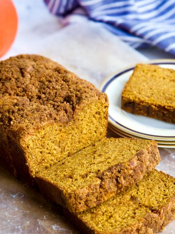 Pumpkin Bread with spices