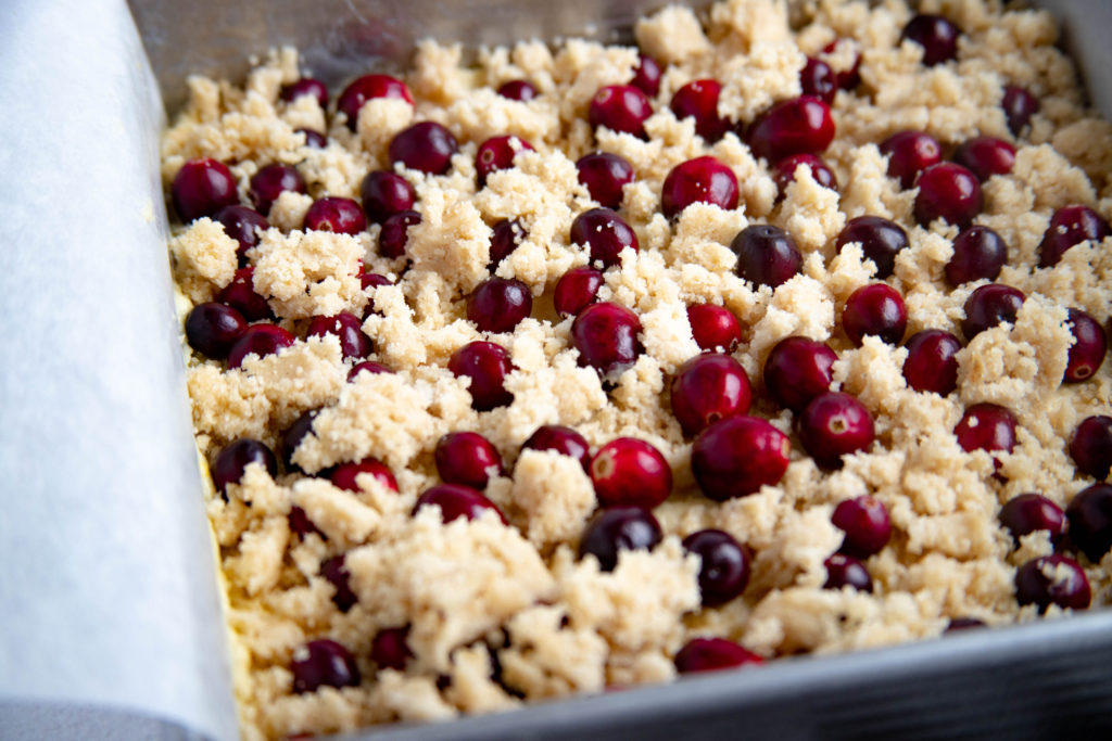 Cranberry Cake ready for the oven
