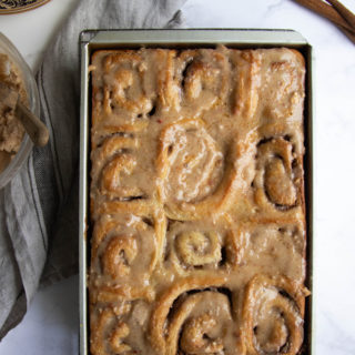 Pecan Cinnamon Rolls with Apple Cinnamon Glaze