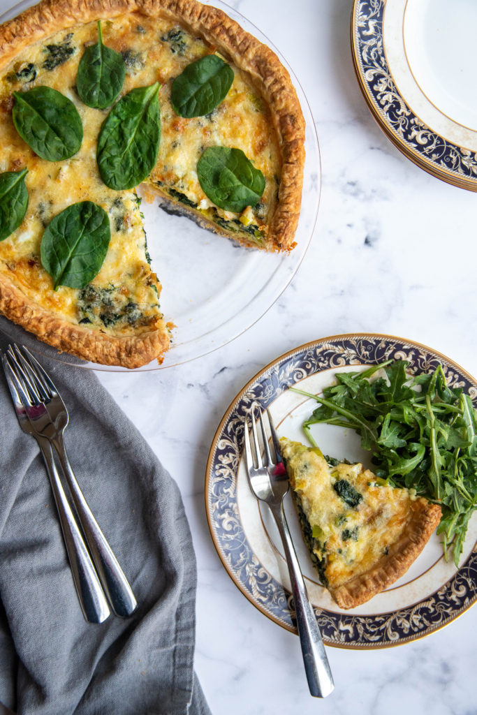 A Slice of Spinach and Leek Quiche
