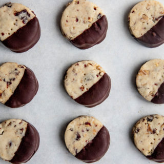 Chocolate Cherry Hazelnut Cookies