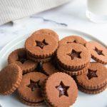Chocolate Shortbread Sandwich Cookies
