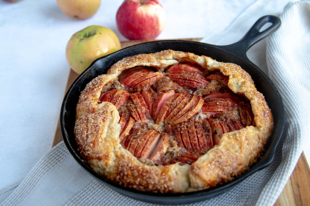Apple Galette with Hazelnut Frangipane