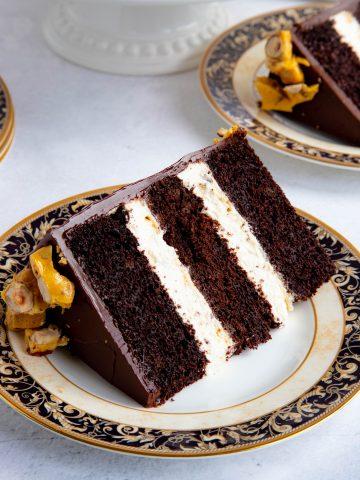 Chocolate Caramel Crunch Cake