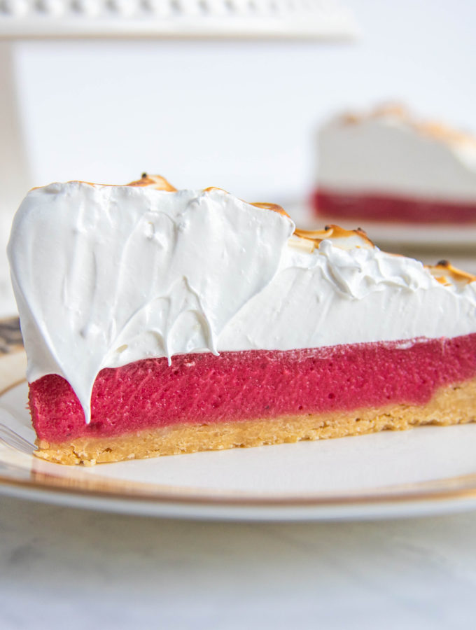 Cranberry Meringue Tart