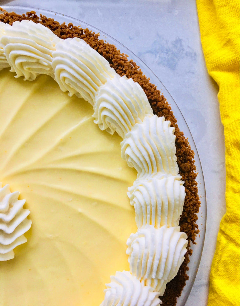 Lemon Cream Pie with Ginger Cookie Crust