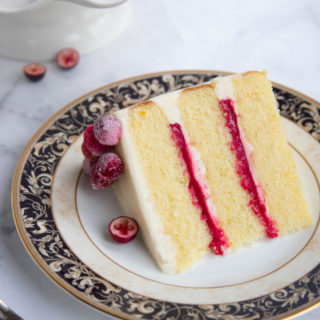 Orange Butter Cake with Cranberry Curd