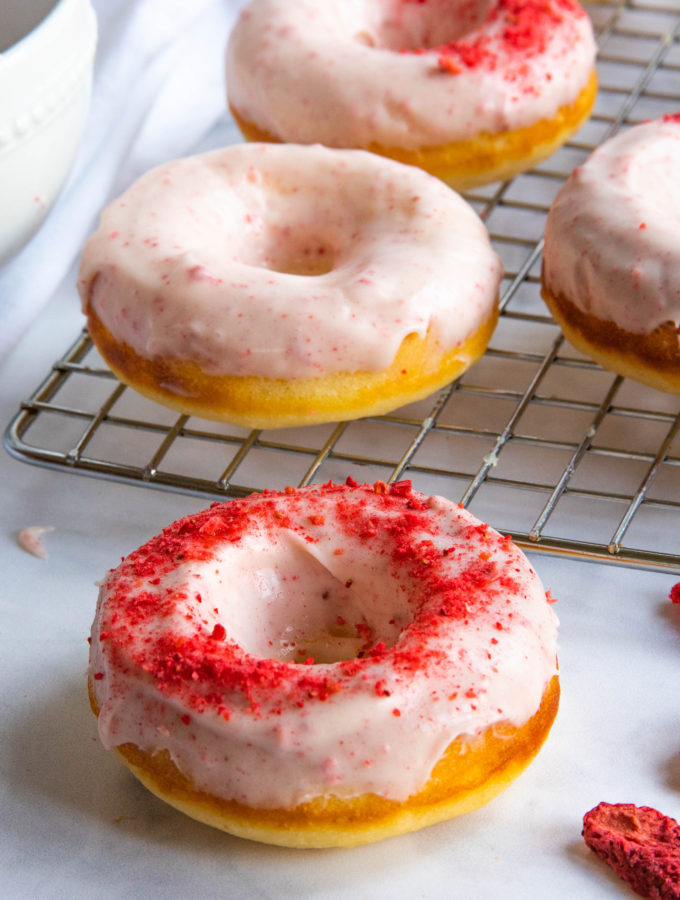 Strawberry Lemon Doughnuts