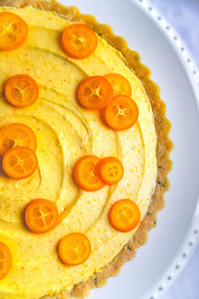 Kumquat Tart with Fresh Kumquats