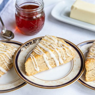 Cardamom Brown Sugar Scones with Honey and Butter