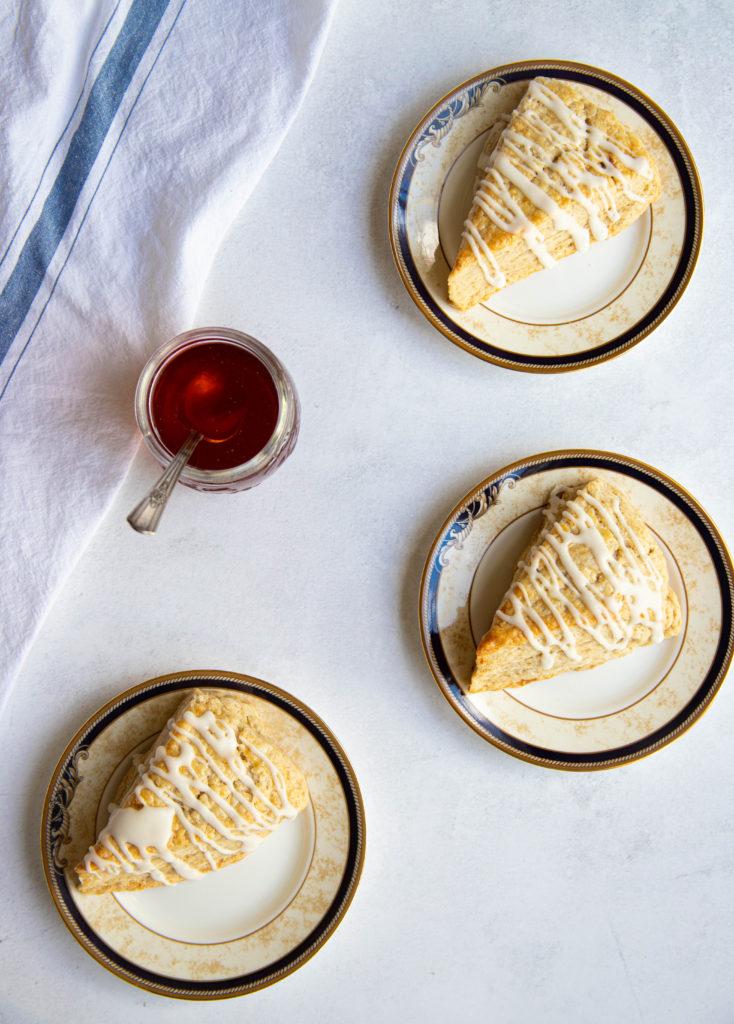 Cardamom Brown Sugar Scones with Honey