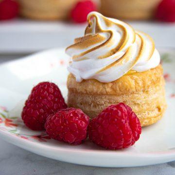 Lemon Rapsberry Meringue Tarts