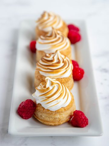 Lemon Raspberry Meringue Tarts