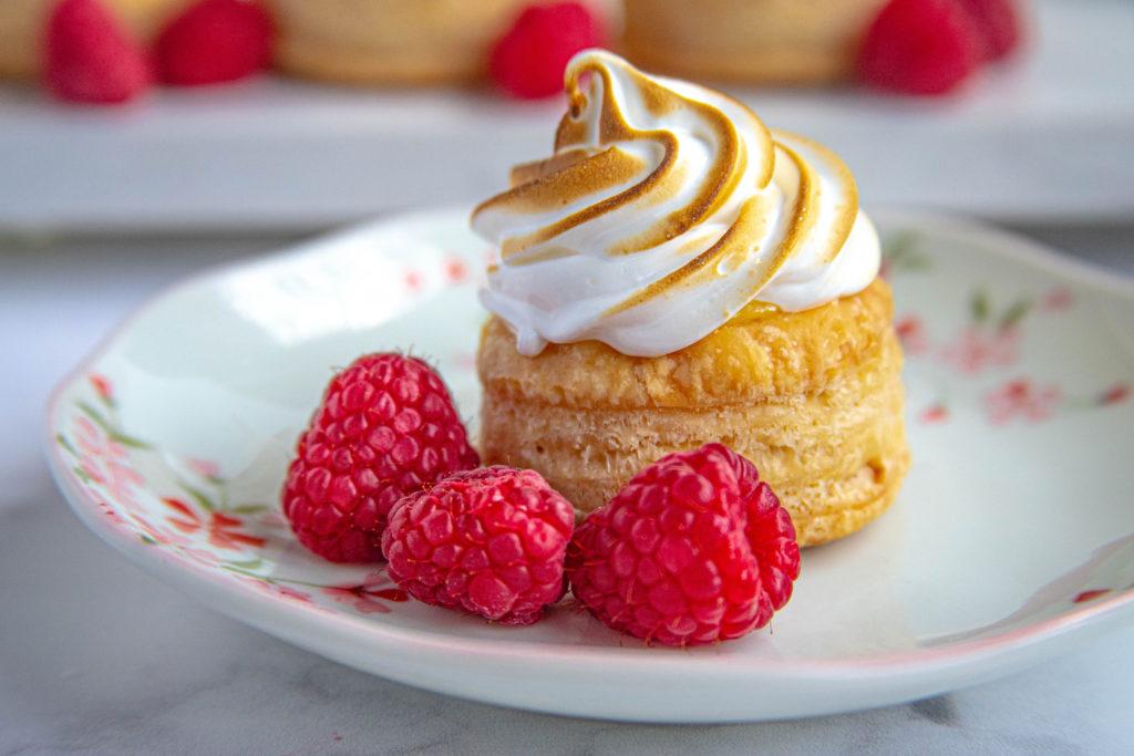 Lemon Raspberry Meringue Tarts