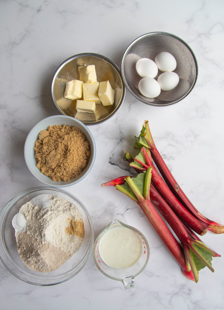 Rhubarb Crumb Cake Ingredients