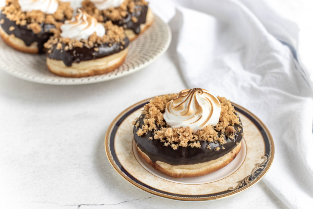 S'Mores Doughnuts with Chocolate Glaze
