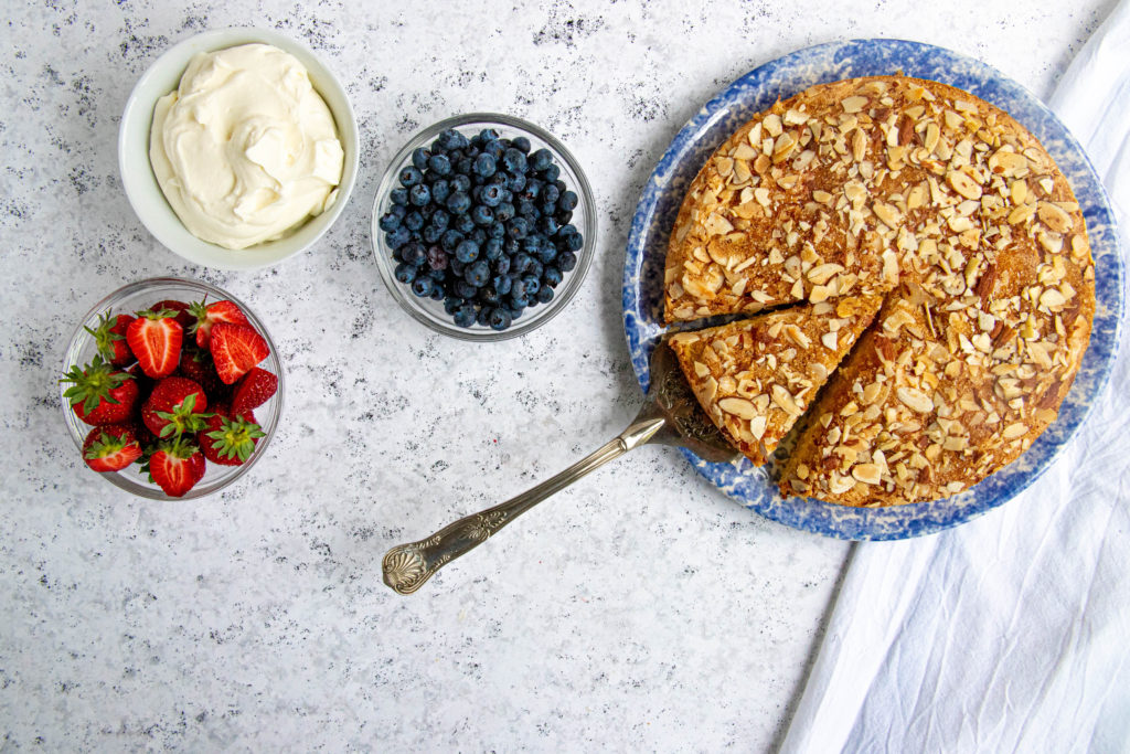 Spanish Almond Cake with Fresh Berries
