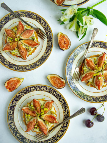 Fig and Cherry Pistachio Tart