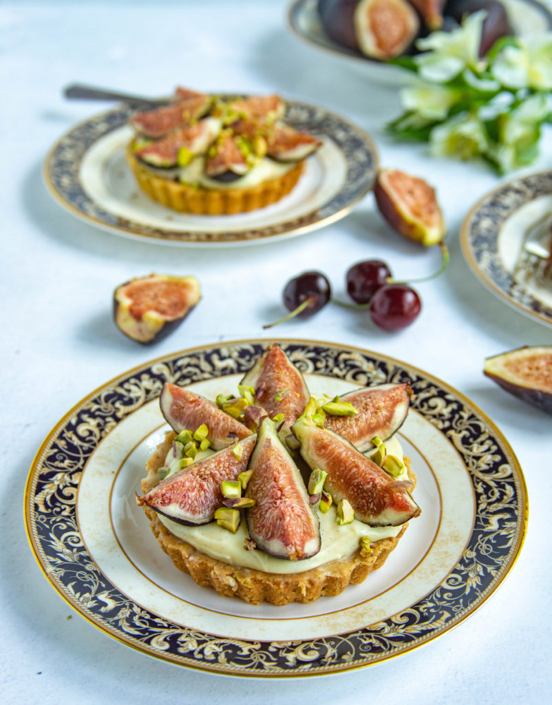 Fig Pistachio Cherry Tart