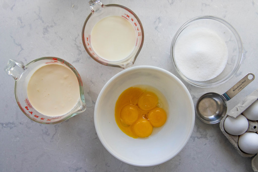 Ingredients for the Ice Cream Base