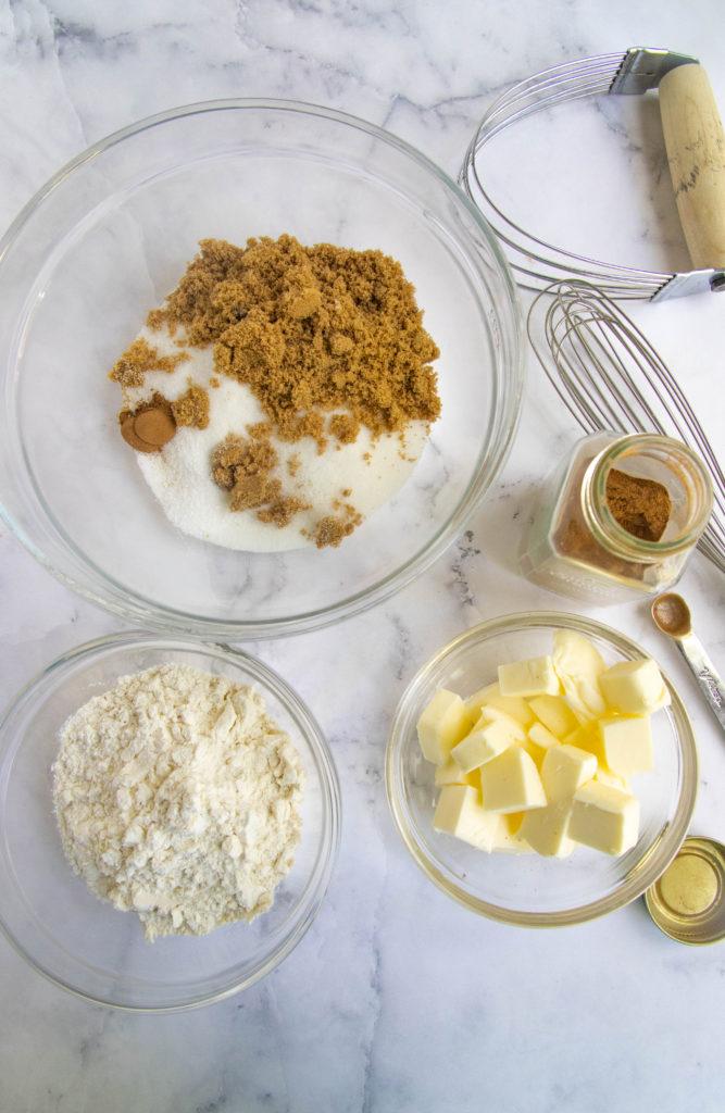 Cinnamon Crisp Ingredients - Flour, Sugar, Unsalted Butter, Cinnamon and Salt