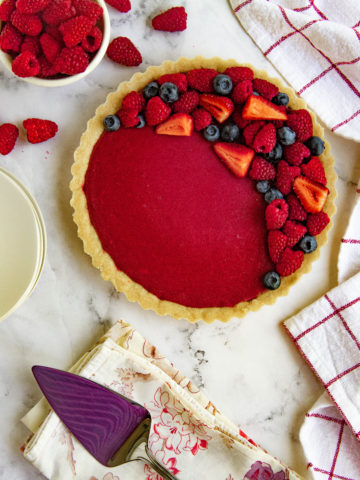 Raspberry Curd Fruit Tart