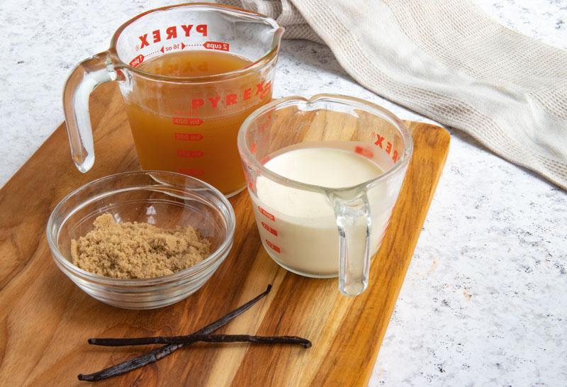 Apple Cider Caramel Sauce Ingredients