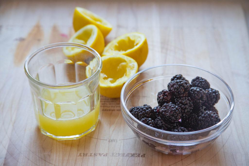 Blackberry Curd Ingredients