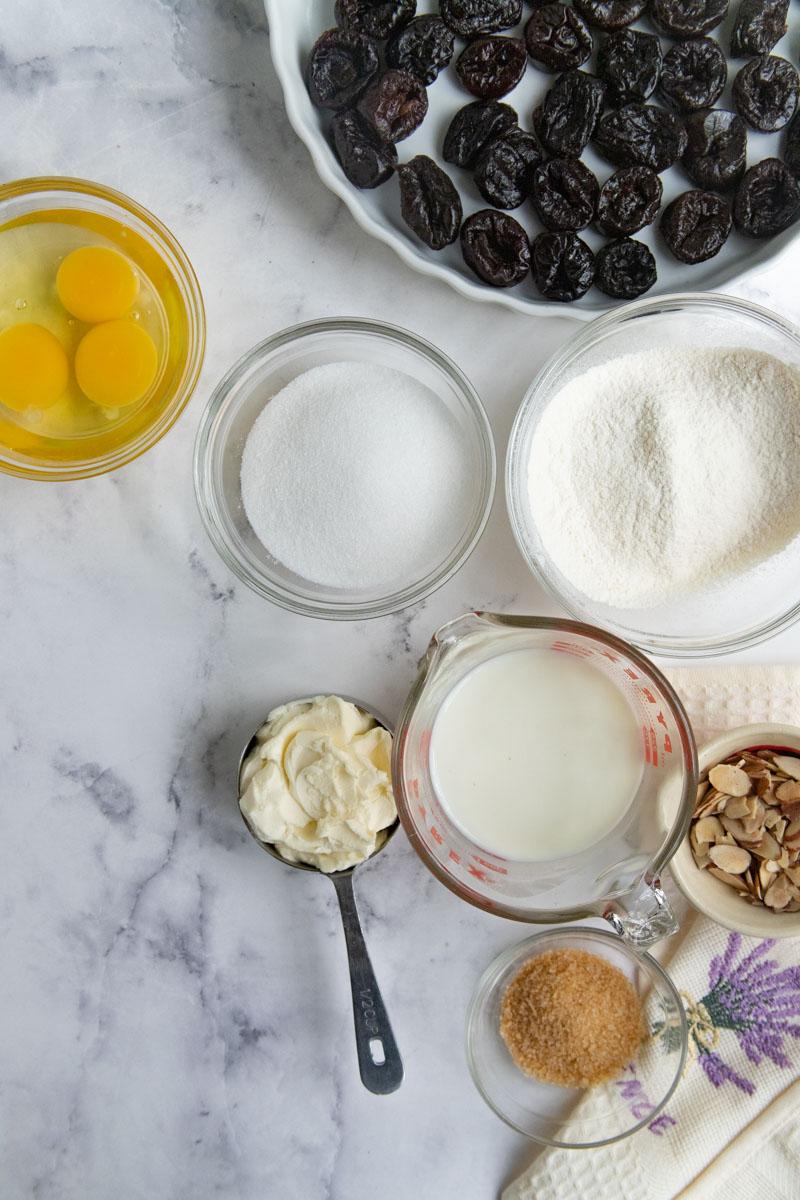 Prune Clafoutis Ingredients