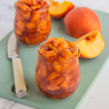 Roasted Peaches with fresh peaches