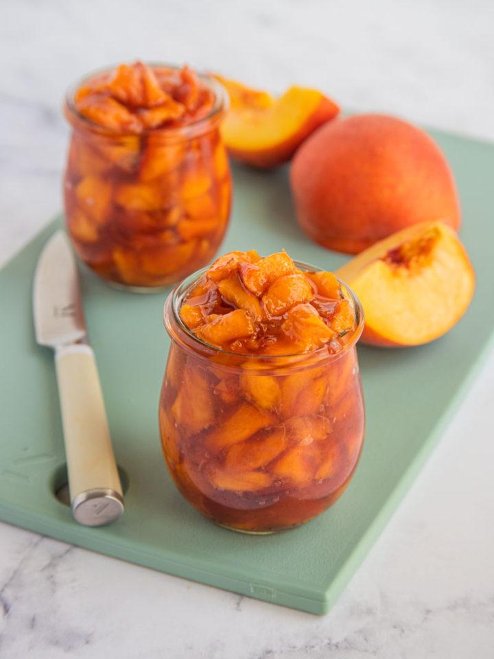 Roasted Peaches with fresh peaches