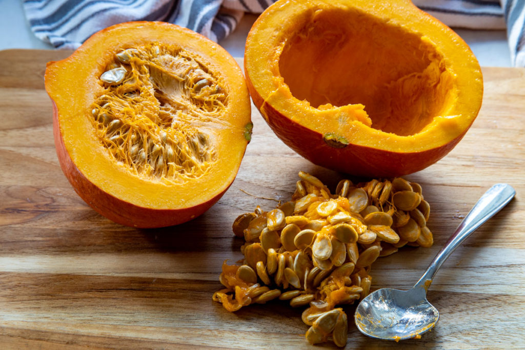 Fresh Pumpkin - Cut in Half