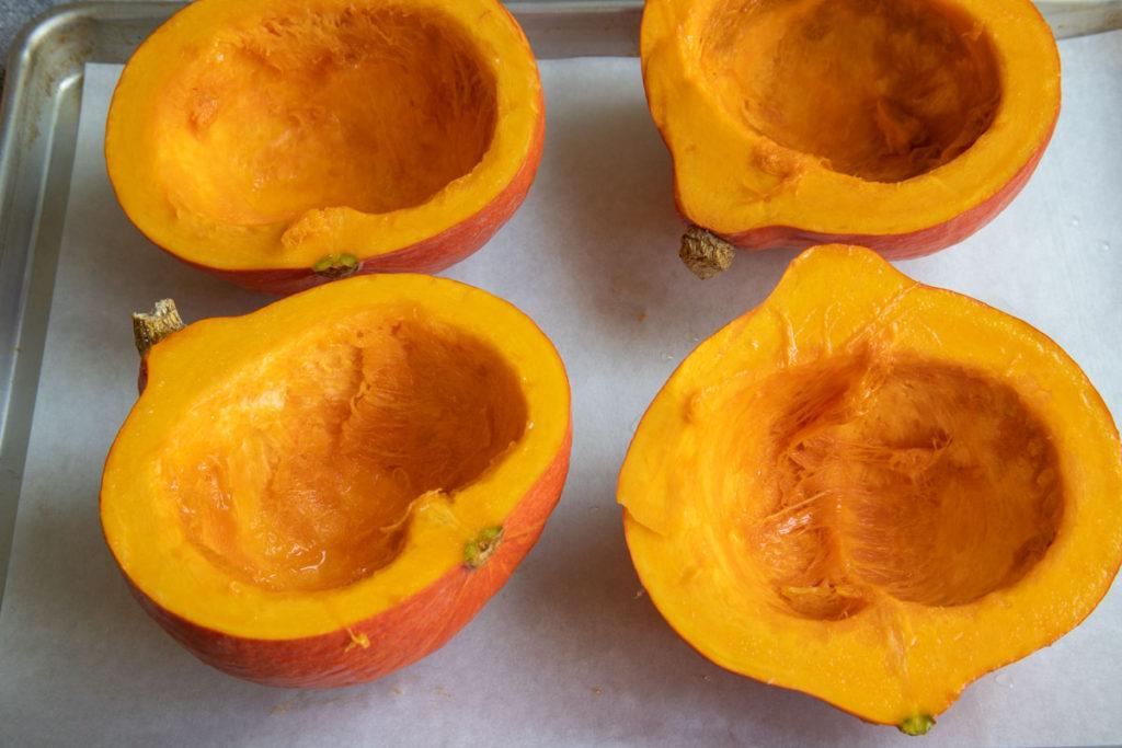 Inside of Cut Pumpkin