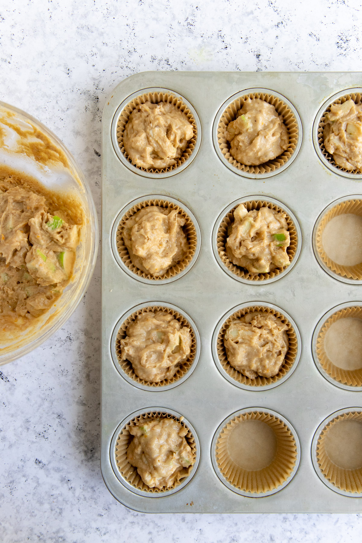 Add the Batter to the Muffin Cups