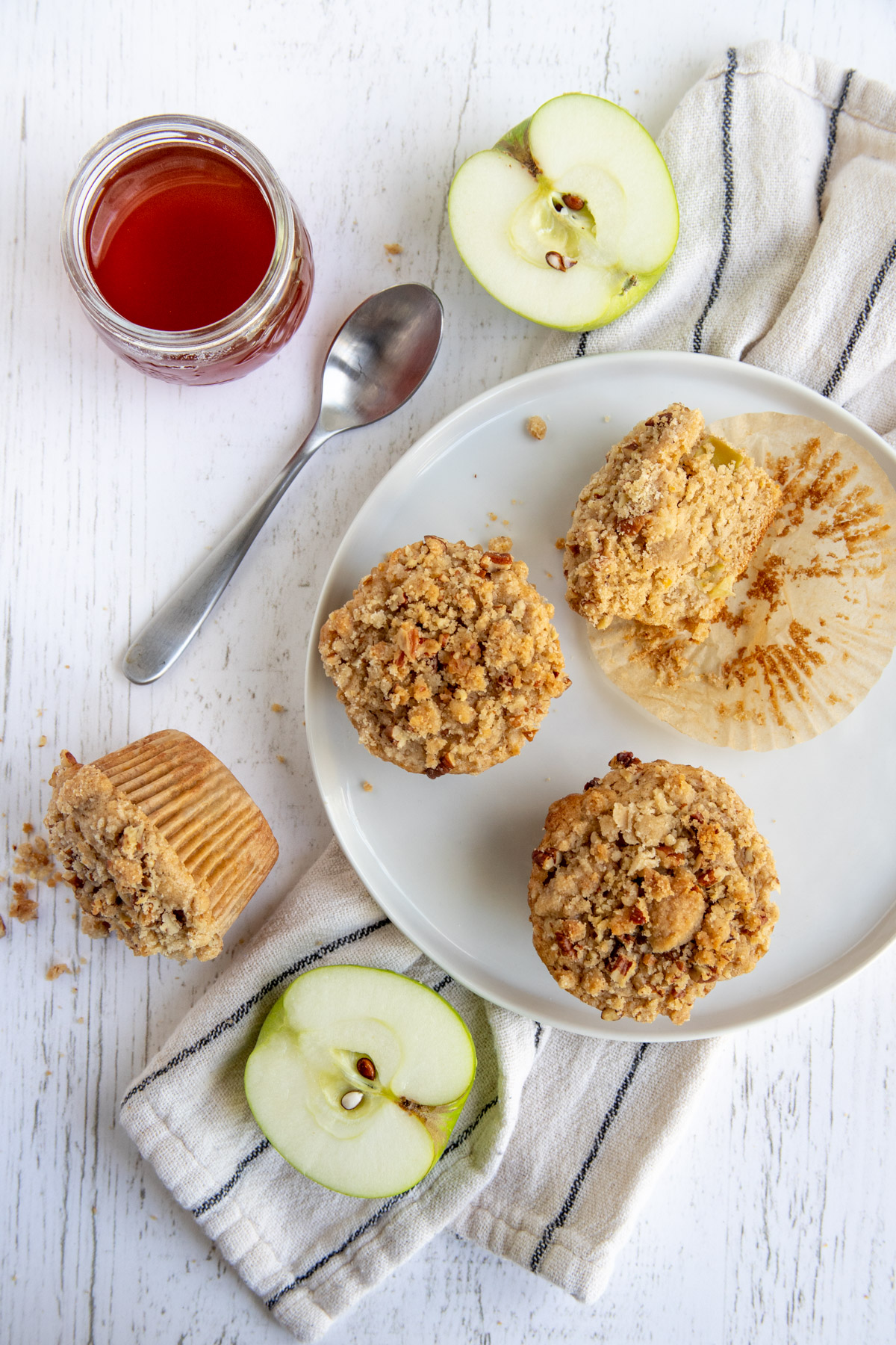 Apple Spice Streusel Muffin with Honey