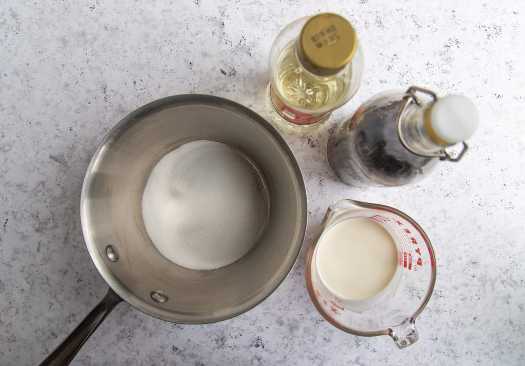 Heavy Cream, Sugar, Corn Syrup and Vanilla Extract