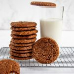 Cocoa Molasses Spice Cookie with a glass of milk