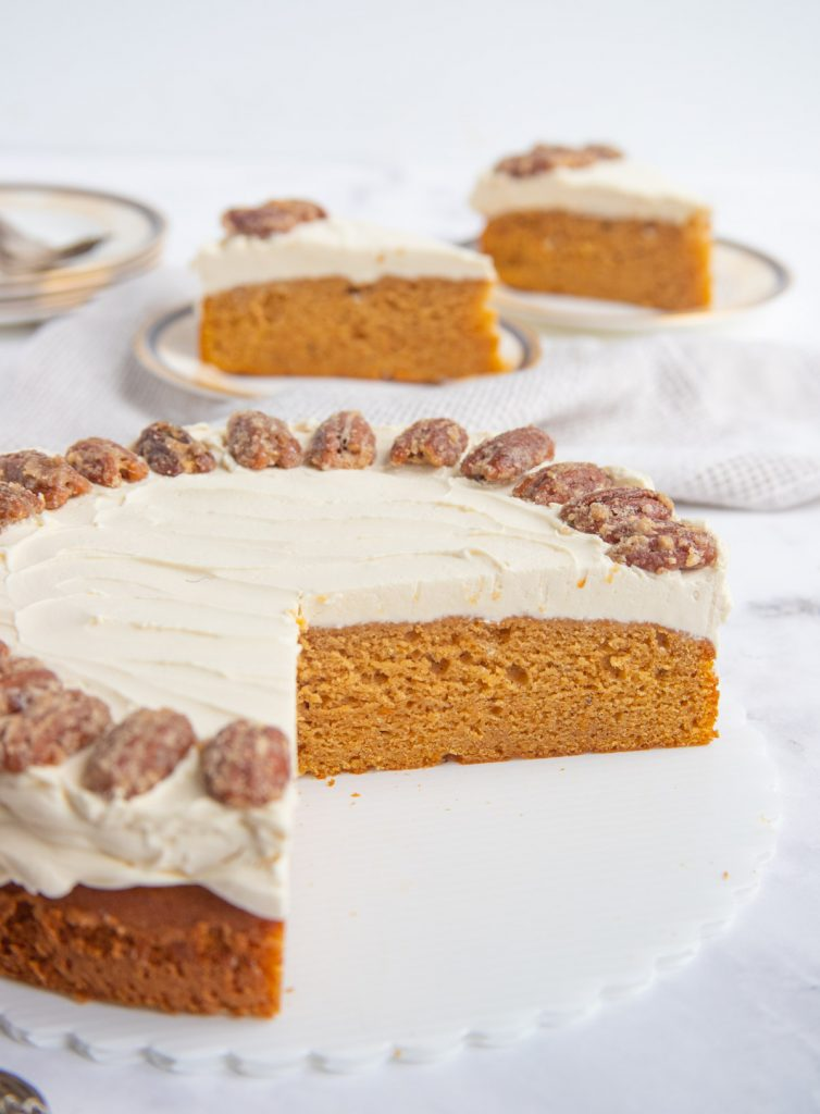 Sweet Potato Sour Cream Cake