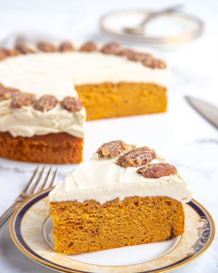 A Slice of Sweet Potato Sour Cream Cake