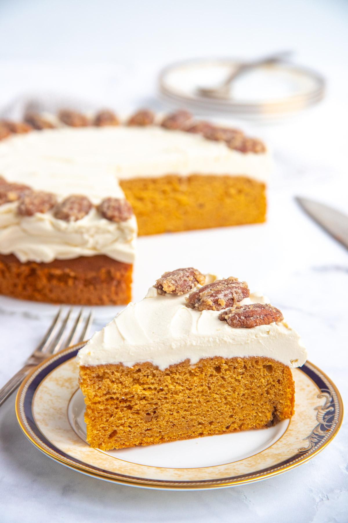 A Slice of Sweet Potato Sour Cream Cake